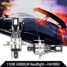 2PCS H4 110W 24000LM CREE LED Headlight Kit High/Low Beam Bulbs 6000K High Power