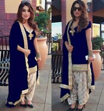Designer Indian salwar kameez ethnic Punjabi patiala raw silk Bollywood suits