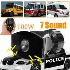 12V 100W Car Alarm Speaker 7 Siren Sounds Remote Car Siren Speaker Truck Boat UK