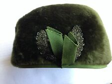 VINTAGE PATRICE HAT GREEN LADIES HAT ITALY 1960s