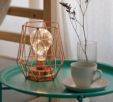 Vintage Hexagon LED Light Battery Industrial Table Desk Accent Lamp Trendy Gift