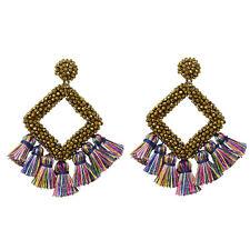 women's earrings Beaded Hoop  Handmade Embellished Seed Beaded Earrings.