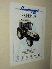 Prospectus Tracteur LAMBORGHINI 775 Tractor Traktor Trattori  Brochure Prospekt