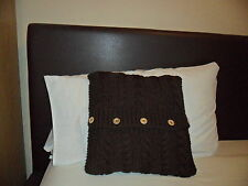 """Hand Knitted 14"""" cushion cover (pad not included)"""