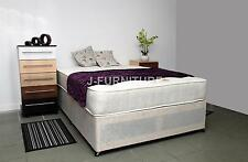 4ft Small Double Divan Bed With Real Orthopaedic Mattress Top