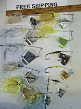 LOT OF 11 OLDER BUZZ BAIT TOPWATER FISHING LURES. BUZZBAITS USED LOT TACKLE LOT