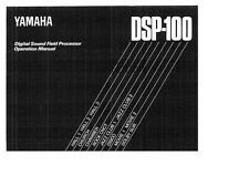 Yamaha DSP-100 Amplifier Owners Manual