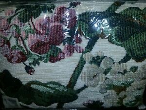 Vtg Goodwin Weavers 47x60 Cotton/Acrylic Fringed Throw Blanket CHENILLE TAPESTRY