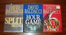 DAVID BALDACCI KING & MAXWELL SERIES BOOKS HARDCOVER LOT OF THREE
