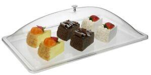 Rectangular Cake Dessert Food Display Box with Lid Storage Serving Polycarbonate