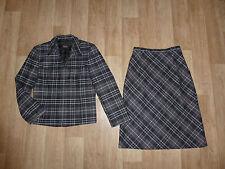 Zweiteilige Damen-Anzüge & -Kombinationen mit Rock für Business aus Mischwolle