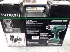 "New Hitachi 18V 1/4"" Variable Speed Cordless Impact Driver Kit  WH18DGL IN BOX"