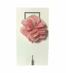 Flower Lapel Pin with Stainless Steel Pin, Pink Floral Brand New Free Ship