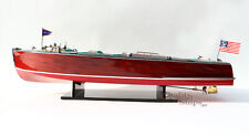 "Chris Craft Triple Cockpit 26"" Handmade Wooden Model Speed boat"