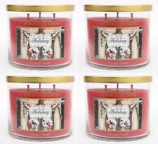 4 Bath & Body Works Holiday 3-Wick Candle 14.5 oz