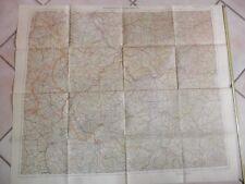 Vecchia carta geografica epoca seconda guerra mondiale GERMANIA FRANCIA 1940 di