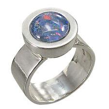 Schmuck-Michel Damen Ring Silber 925 Opal-Triplette 10 mm (1230)  Ringgröße 56