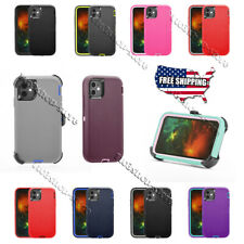 For iPhone 12 mini iPhone 12 Pro Max Case Shockproof Heavy Duty with Belt Clip