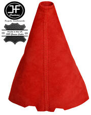 RED REAL SUEDE GEAR GAITER FITS PEUGEOT 107 CITROEN C1 TOYOTA AYGO 2005-2009