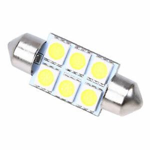 F998 36MM 5050 6SMD Festoon Dome Interior LED Lights Lamps Bulbs C5W 6411 6418