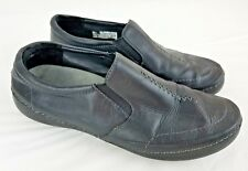 Vionic Orthaheel Loafers Women's Black Leather Slip On Comfort Shoes Size 10
