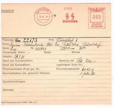 Düsseldorf 1938 Siemens Schuckert Archivkarte Unikat