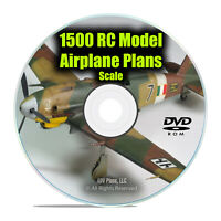1,500 Scale RC Model Aircraft Plans, Remote Radio Control, Easy Guides DVD I28