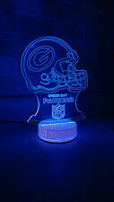 Green Bay Packers 3D illusion 7 Color LED Light Night Change Table Desk Lamp