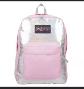 Jansport Superbreak Backpack Pink Hologram New With Tag