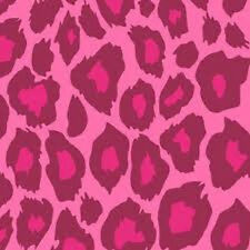 "12"" Scrapbook Paper 12p Momenta Pink Flock Leopard Print Girl Baby Shower Invite"