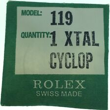 Genuine Rolex NOS 119 Cyclop Factory Sealed NOS Crystal Watch Part 1 XTAL