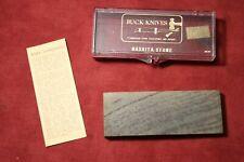 Buck Knives Washita Sharpening Stone #131 in Original Case