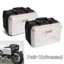2PCS Motorcycle Saddlebags Luggage Universal  Hard ABS Bag Street Bike Motorbike