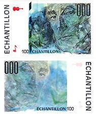 FRANCE TEST NOTE ECHANTILLON ORIGINAL BANQUE DE FRANCE 100 MAURICE RAVEL NEUF