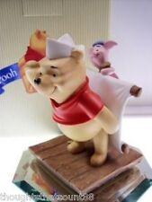 Pooh & Friends Pooh & Piglet Figurine Sailing Pog Ex Bx * Free Usa Shipping