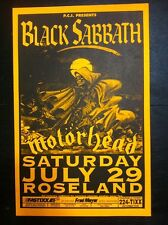 Black Sabbath Ozzy Osbourne Motorhead Original Heavy Metal Concert Gig Poster