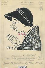 M.ROBINSON -PORTRAIT/CARICATURE -ORIGINAL par LEBON  68