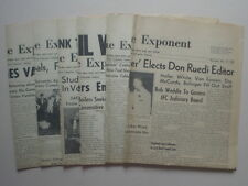The Purdue Exponent - 5 Vintage Purdue University Newspapers from 1954 & 1955