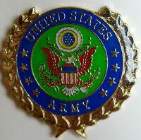 US Army Seal Logo Gold Wreath Hat Lapel  Tie Tack Pin Military American Veteran