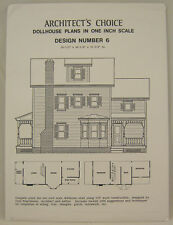 DOLLHOUSE PLANS Design #6 Architect's Choice 1:12 Scale