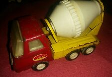 Vintage '70's  Mini - Tonka  Cement Mixer Truck  - Yellow & Red Excellent #55010