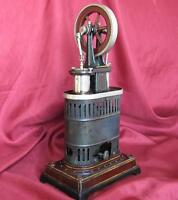 1911 ANTIQUE GEORGES CARETTE HOT AIR STIRLING ENGINE WORKING TIN MODEL XTR.RARE