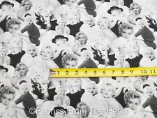 Marilyn Monroe Platinum Sexy Pin Up Poses BY YARDS Robert Kaufman Cotton Fabric