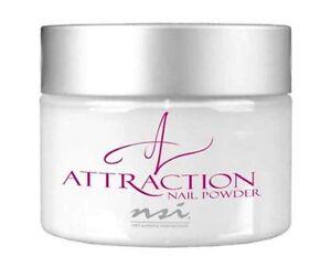NSI Attraction Acrylic powder Radiant White 40g pot New