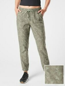 ATHLETA Farallon Stratum Camo Jogger 4 ( S Small ) Laurel Olive Pants NEW