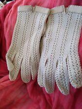 Vintage Crochet Driving Gloves M