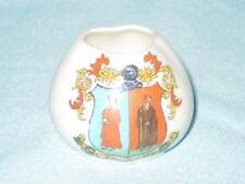 Swan China Vase - LADYBANK crest
