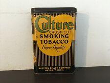 Vintage empty Culture pocket tobacco tin-antique-advertising