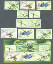 Australia-Dragonflies-Insects-2017 set-self-adhesives & min sheet mnh