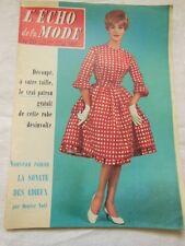 ECHO DE LA MODE 1959 n°20 tricot sous vetement  galon...VOIR PHOTOS